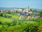 Landscape of Beaumont en Auge in Normandy, France