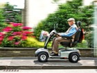 Elderly Person on Electromobile