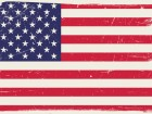 American flag with grunge texture.Vector USA flag.